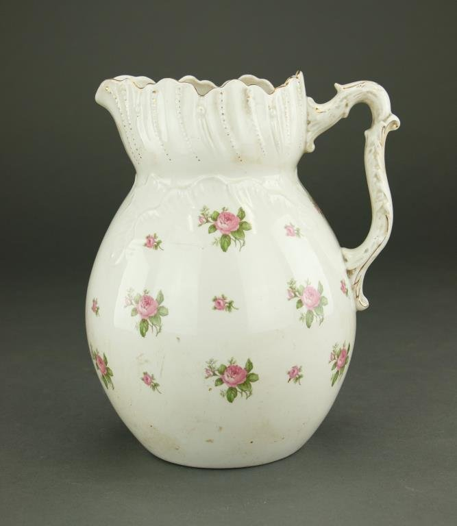 ENGLISH PORCELAIN WATER PITCHER