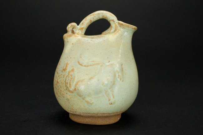 CHINESE WATER JAR WITH HORSE MOTIF - 2