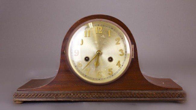 AMERICAN TAMBOUR WOODEN MANTEL CLOCK
