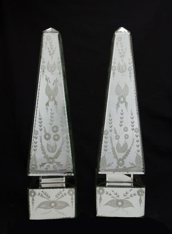 PAIR OF MIRRORED OBELISKS - 2