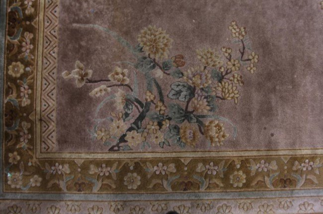 CAMEL COLOR CHINESE RUG WITH FLOWERS - 2