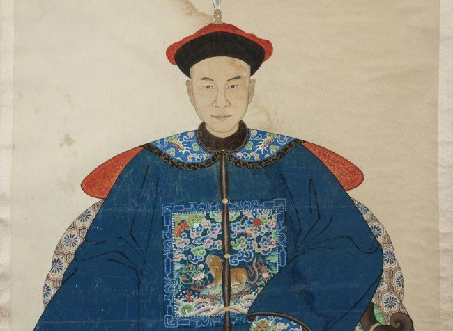 SCROLL PAINTING ON PAPER OF A CHINESE GENERAL - 2