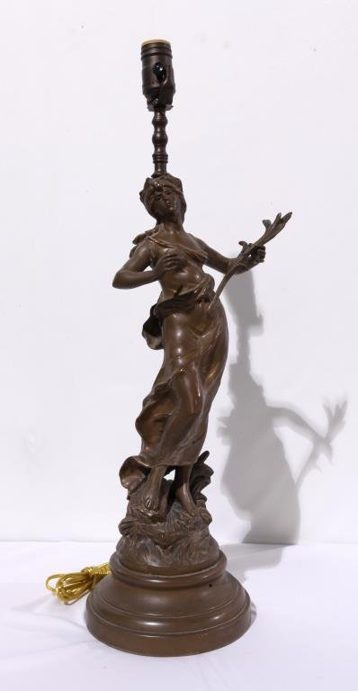 FRENCH BRONZE FIGURE OF A LADY