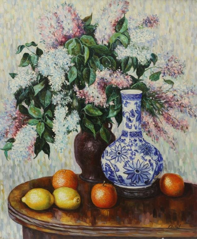 OIL PAINTING ON CANVAS OF STILL LIFE