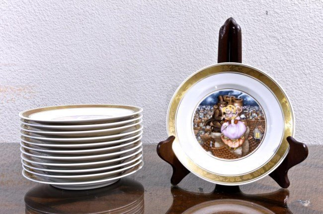 SET OF 12 THE HANS CHRISTIAN ANDERSEN PLATES