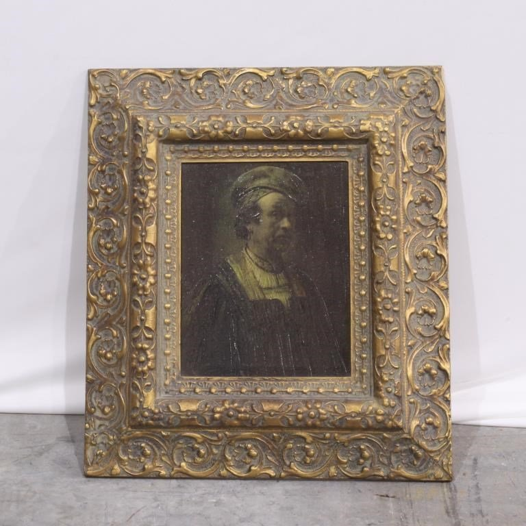 FRAMED PAINTING OF A PORTRAIT