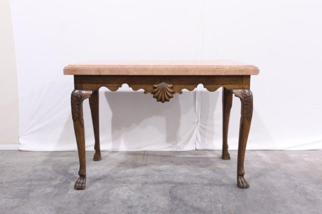 EUROPEAN COUNTER TABLE WITH MARBLE TOP