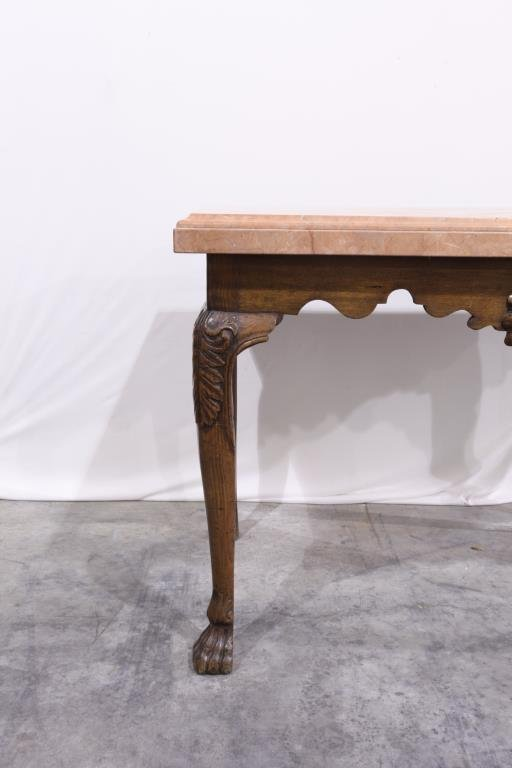 EUROPEAN COUNTER TABLE WITH MARBLE TOP - 2
