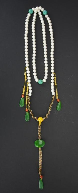 CHINESE CULTURED PEARL COURT NECKLACE