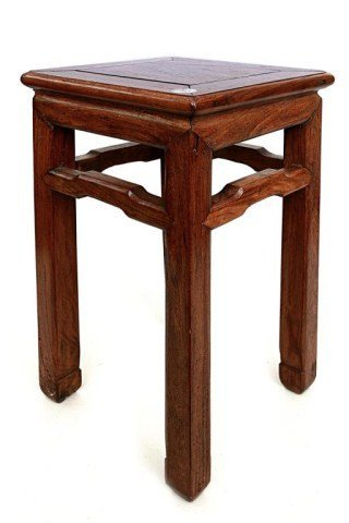 ANTIQUE CHINESE CARVED WOODEN STAND