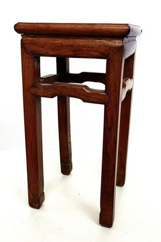 ANTIQUE CHINESE CARVED WOODEN STAND - 2