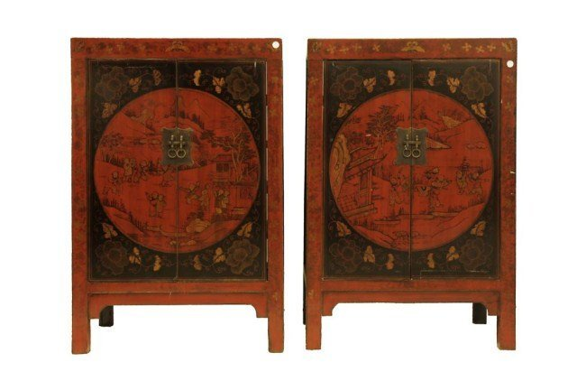 PAIR OF CHINESE TWO DOOR CABINETS