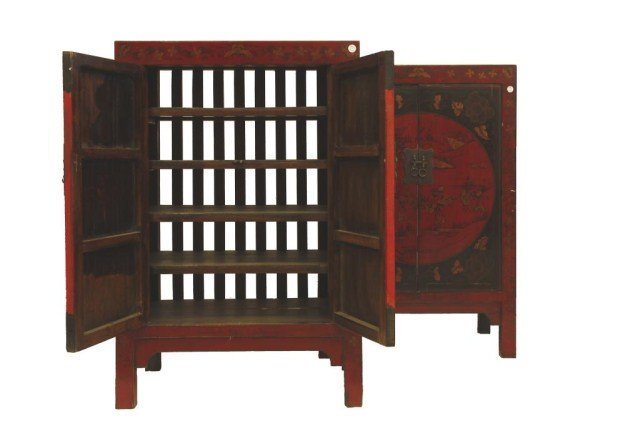 PAIR OF CHINESE TWO DOOR CABINETS - 2