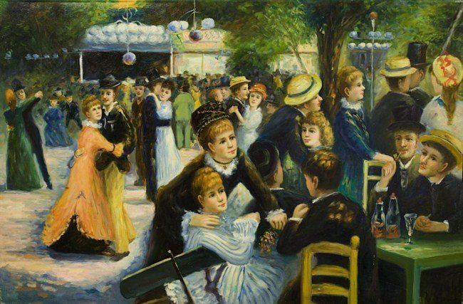 OIL ON CANVAS PAINTING OF RENOIR REPRODUCTION
