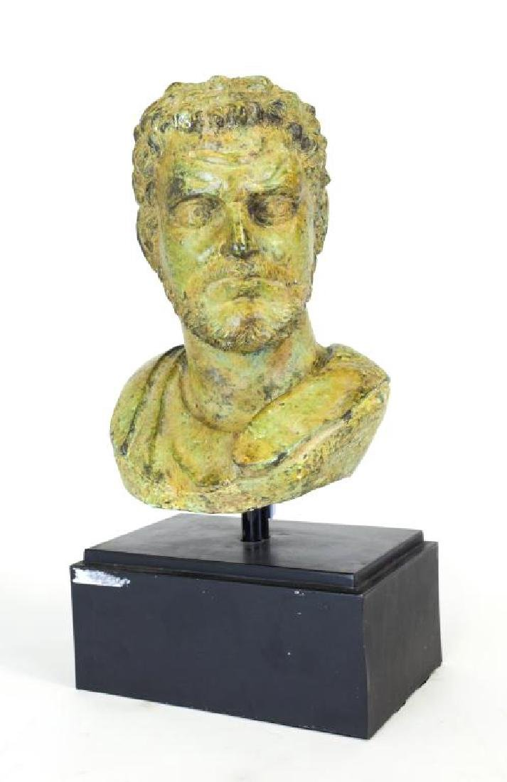 BRONZE BUST OF CAESAR
