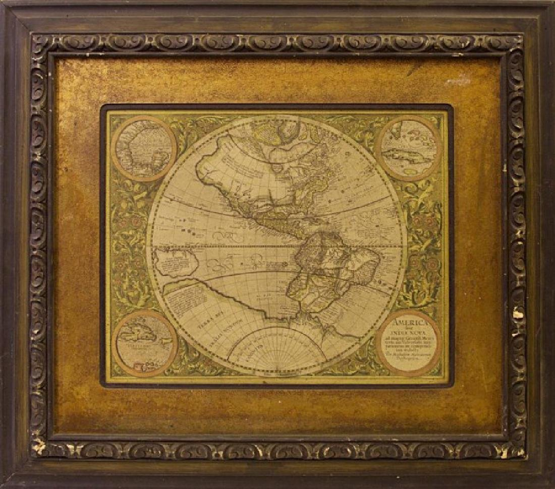FRAMED MAP ON BOARD