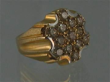 101: Ring, Man's Gold & Diamonds
