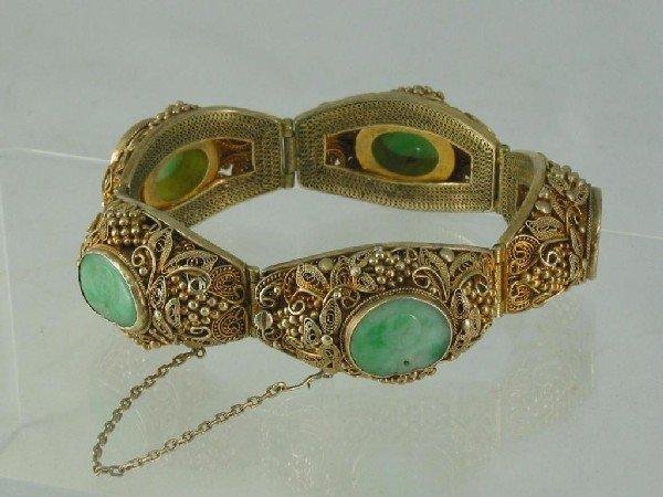 107: Bracelet, Jade, Silver