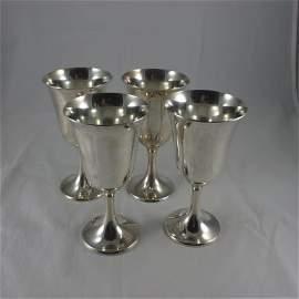 Sterling, 4 Gorham Silver Goblets