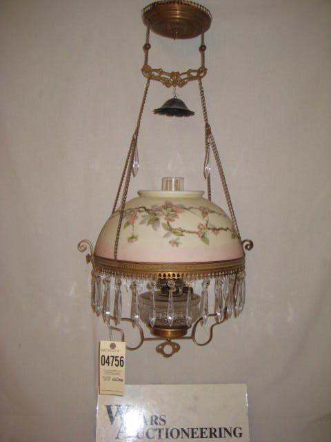 7: Prism ring hanging lamp brass painted shade pattern