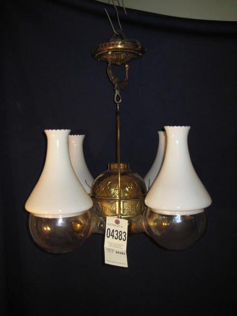 "8:  Quadruple angle lamp brass ""Angle Lamp Co. N.Y."" 4"