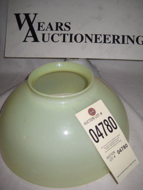 """14:  Hanging lamp shade vaseline 11.75"""" with 5"""" top"""