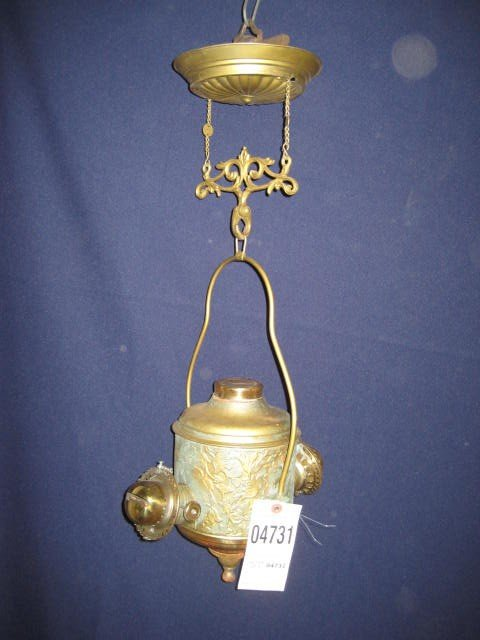 22: Double angle lamp tin w/ extension no glass