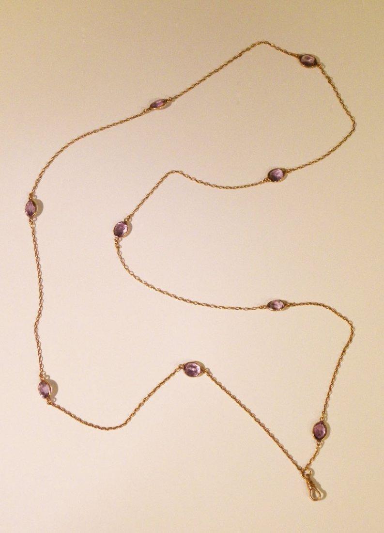 15.75ct. Amethyst Vintage Lorgnette Chain