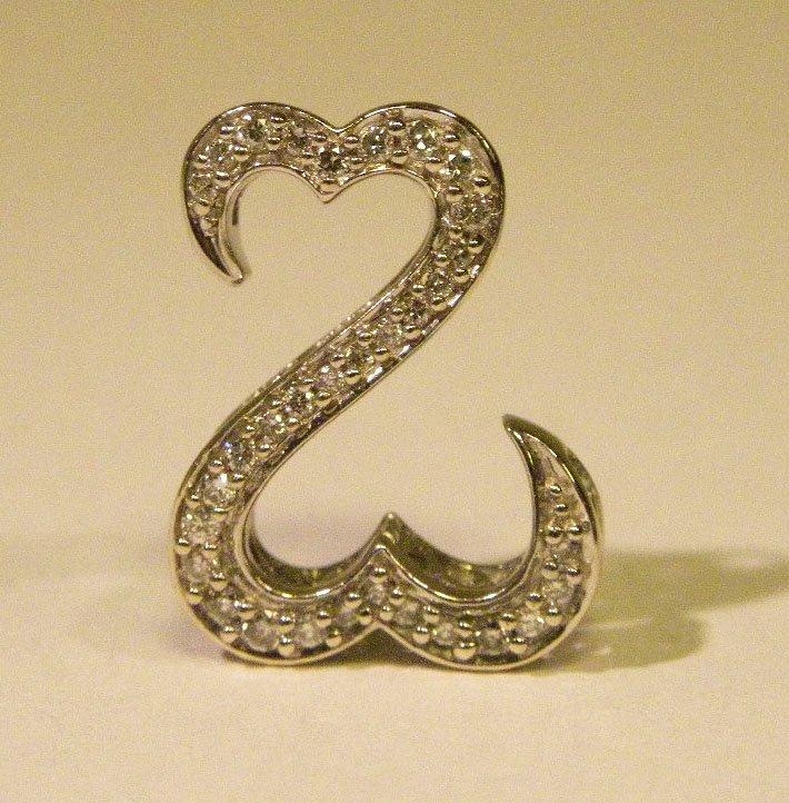 "Famous Design Diamond ""open heart"" pendant"