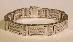 8.05ct. Bold mens diamond bracelet