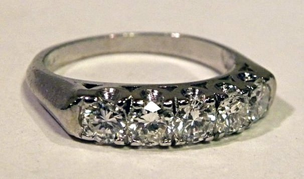 1.25ct Platinum Diamond Wedding Band