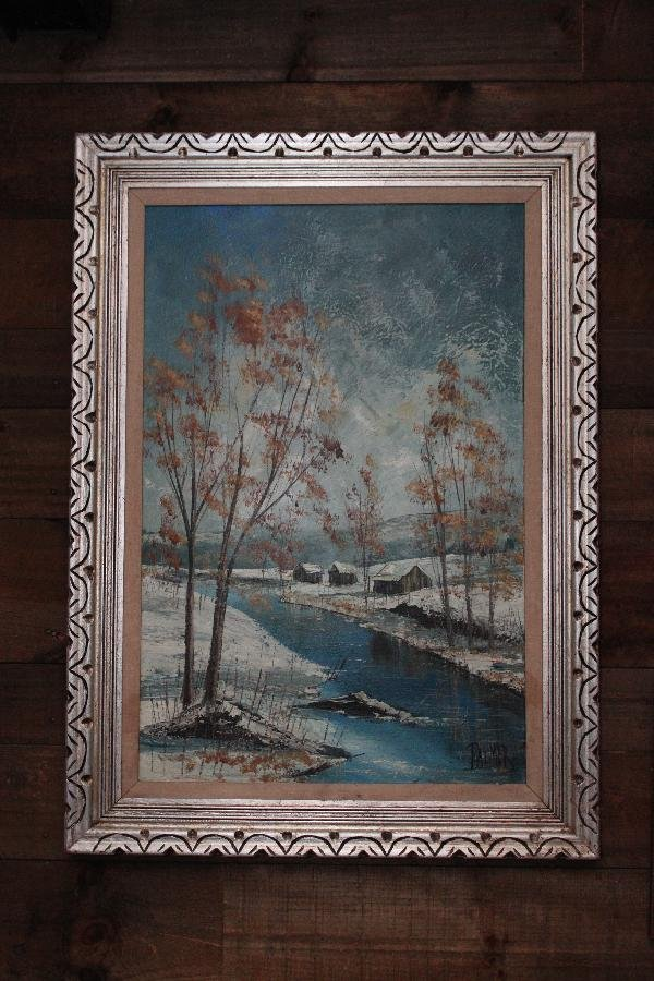 111: Palmer - Winter Cabins by the river - 44x32