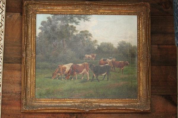 112: Giovani Milone 19th Century - Cows in the Pasture