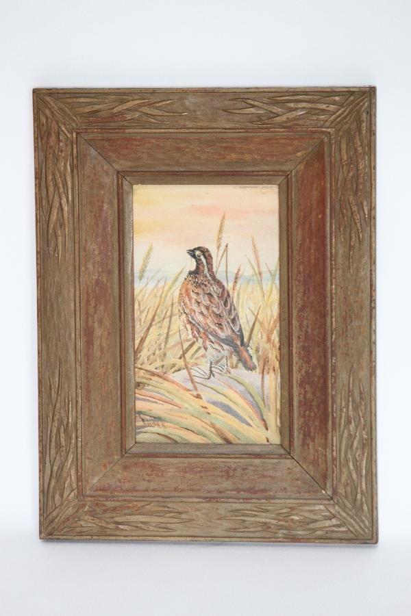 "113: WB Gillette American 1864-1937 Pheasant - 16""x12"""