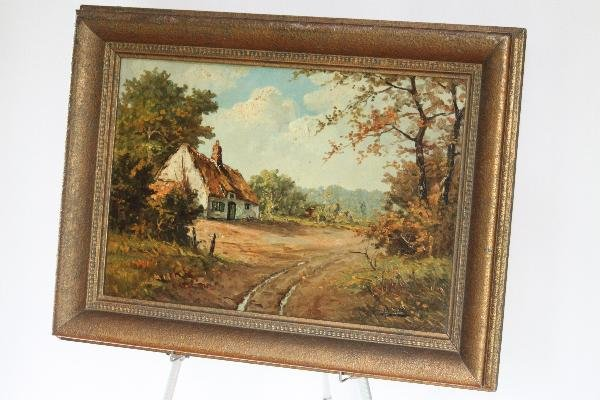 """114: A Van Hove - Country Cottage - 24""""x33"""""""