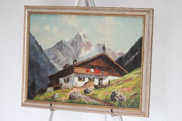 """121: A Buchmann - Swiss Chalet Home - 20.5""""x26.5"""""""
