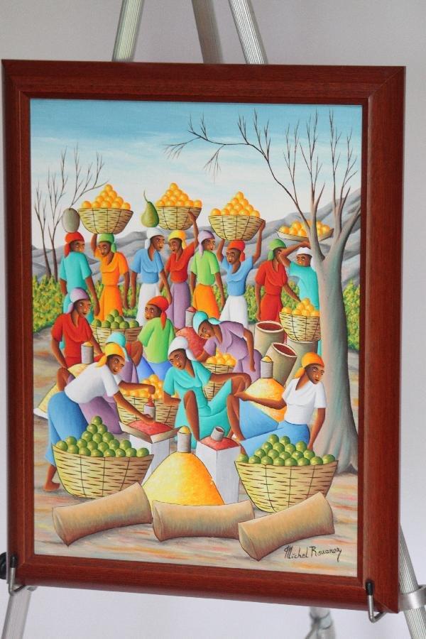 220: Michel Rouanez - Haitian villagers with fruit - 18