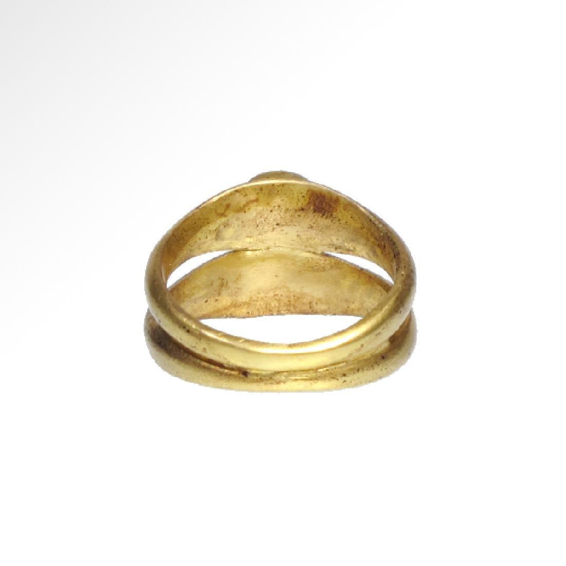 Roman Gold Double Ring, Onyx Intaglios, c. 2nd Century - 6