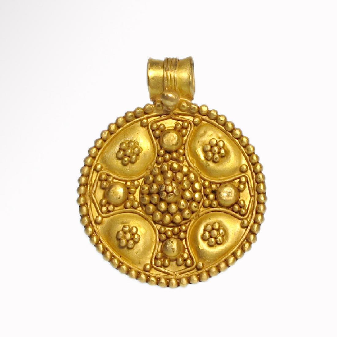 Byzantine Gold Cross Pendant, c. 8th-10th Century A.D.