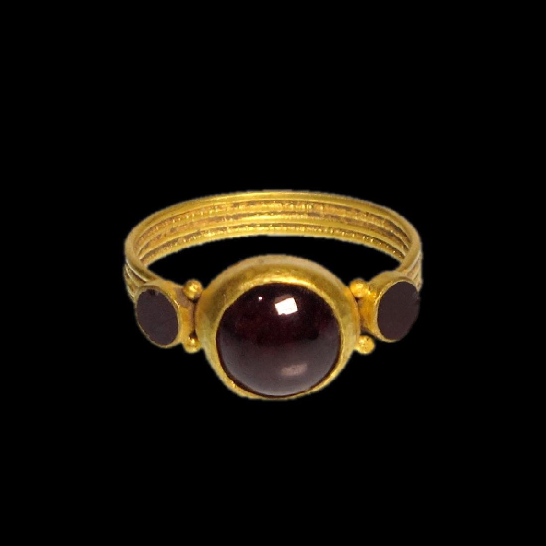 Merovingian Gold Ring with Garnets