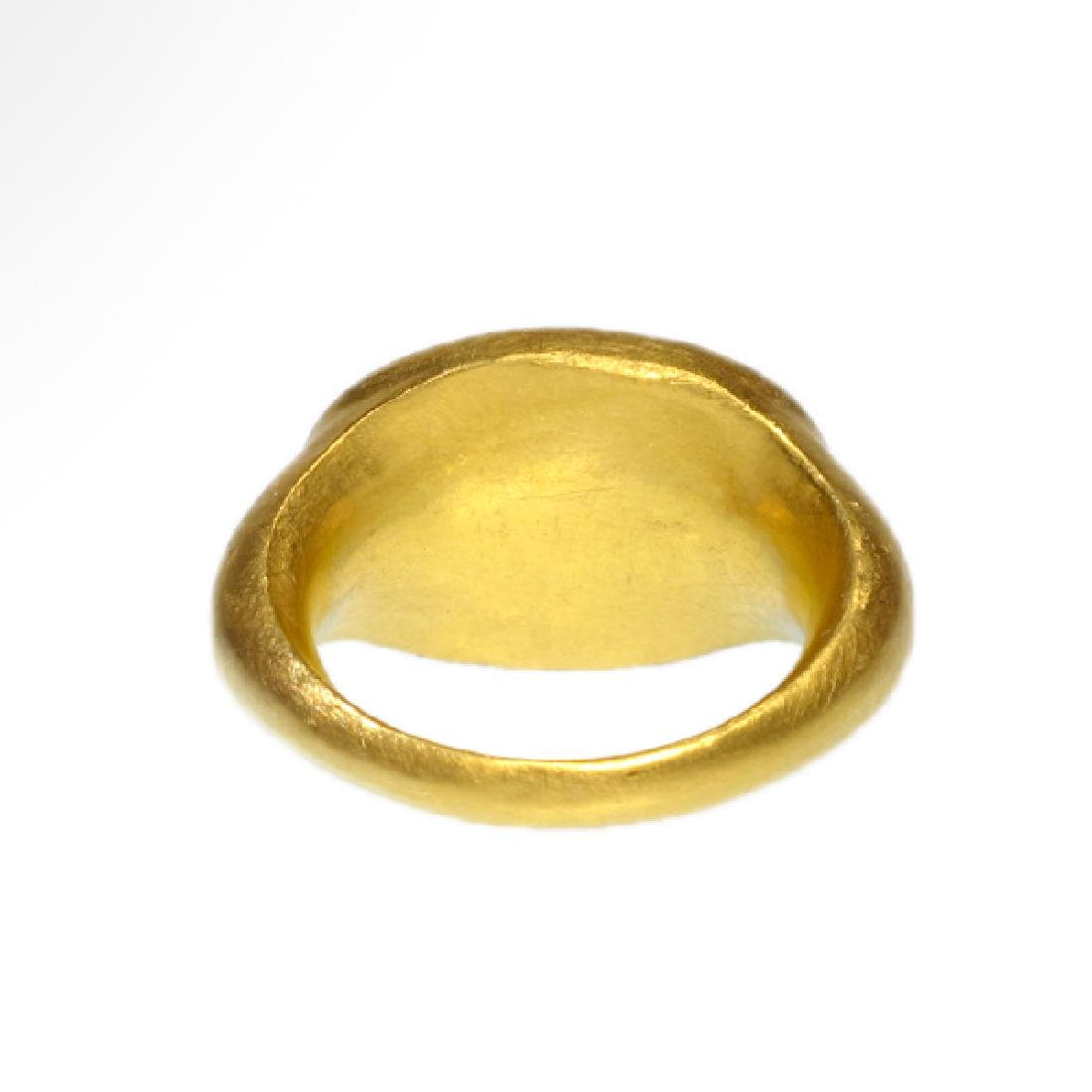 Roman Gold Ring with Head of Fortuna (Tyche) - 6