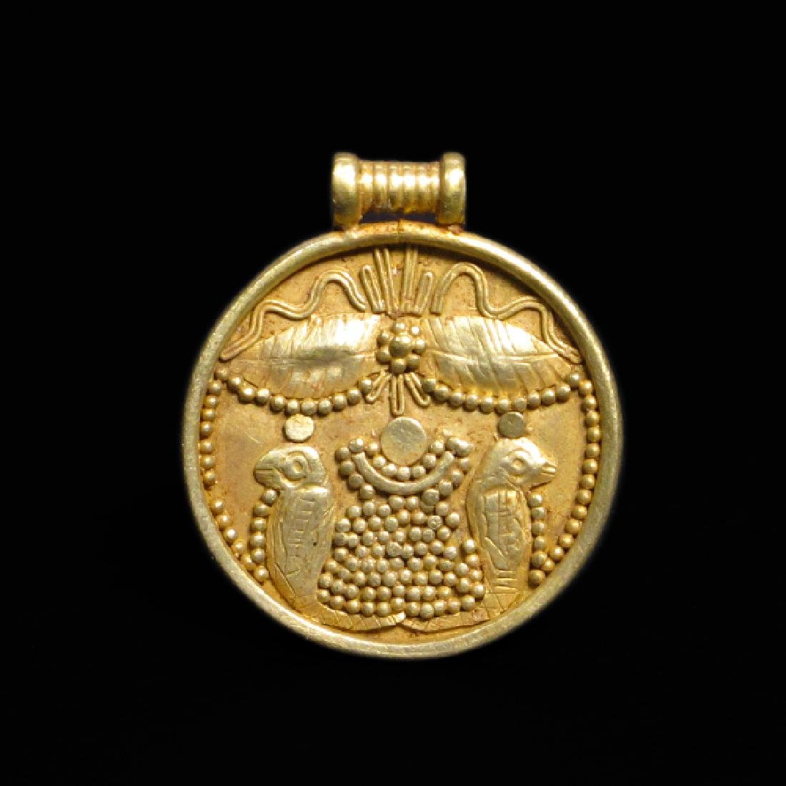 Phoenician Carthaginian Gold Pendant, c. 600 B.C.