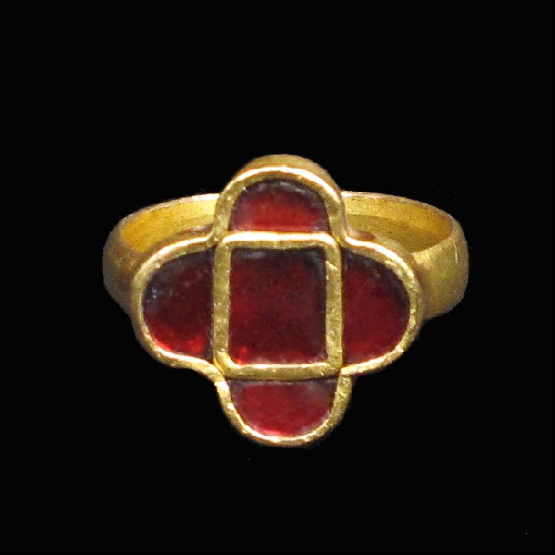 Gothic Gold Ring with Garnets, c. 5th Century AD