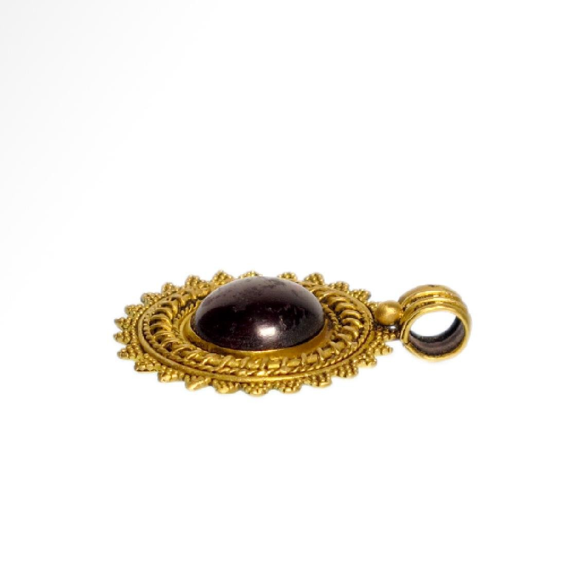 Greek Gold and Garnet Pendant, c. 2nd Century B.C. - 3