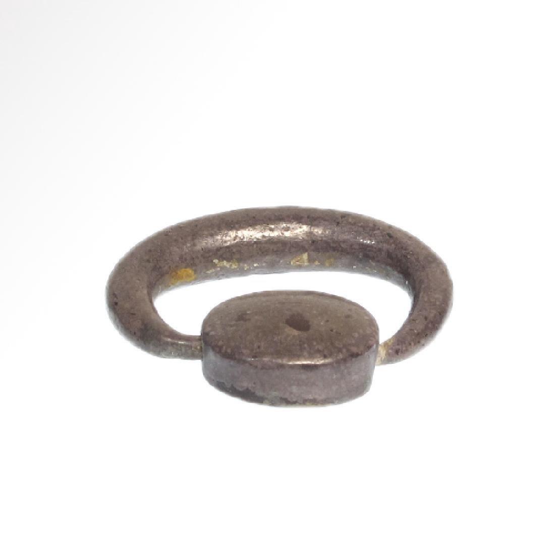 Egypto Phoenician Silver Swivel Ring, c. 1000 B.C. - 2