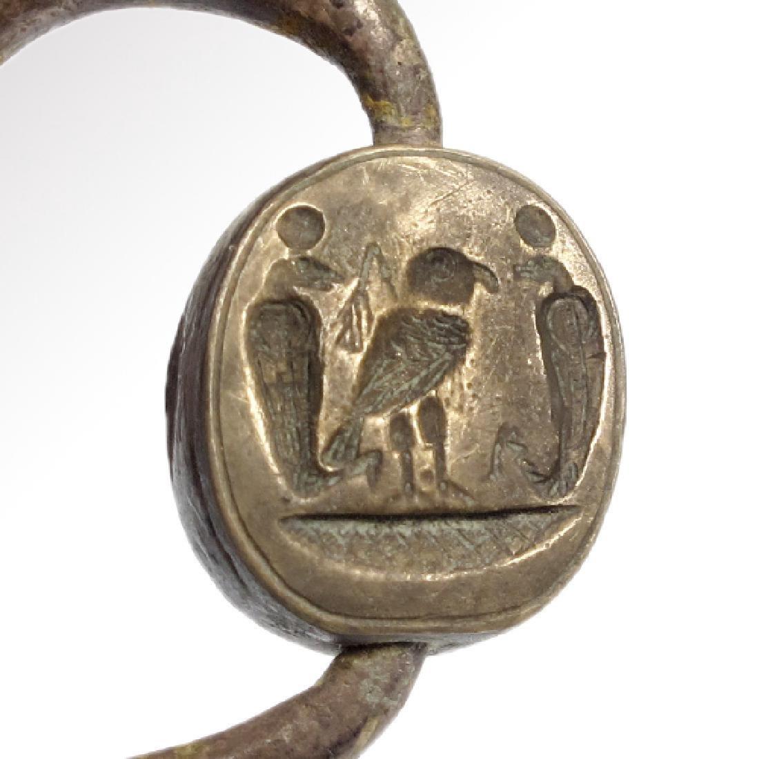 Egypto Phoenician Silver Swivel Ring, c. 1000 B.C. - 3