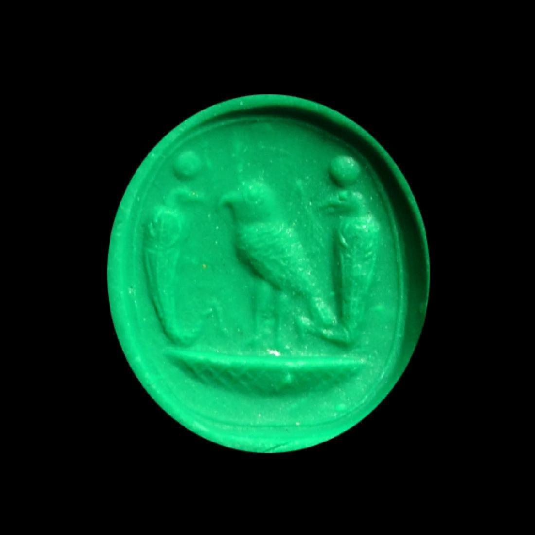 Egypto Phoenician Silver Swivel Ring, c. 1000 B.C. - 4