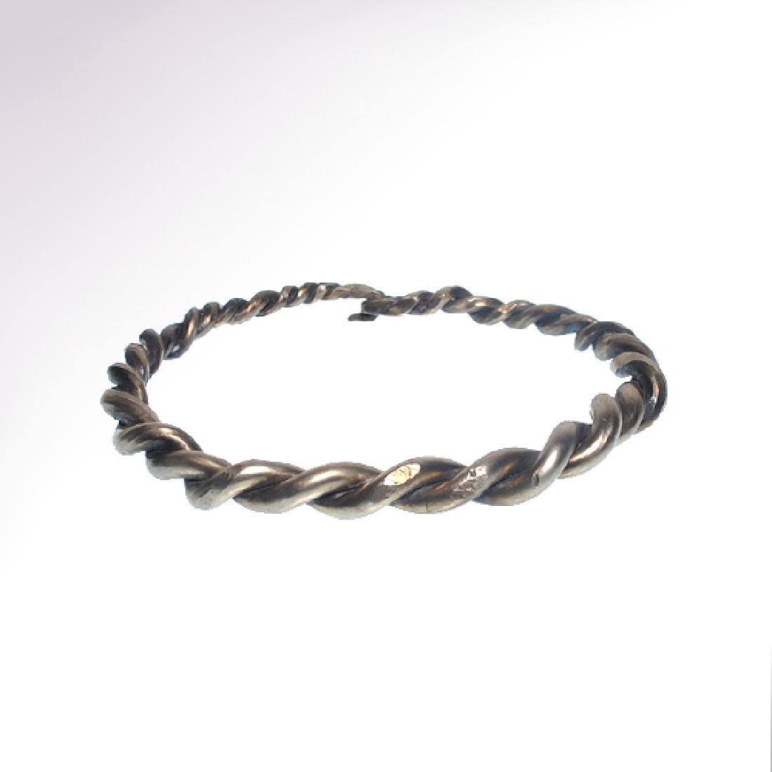 Viking Solid Silver Bracelet, c. 10th-11th Century A.D. - 2