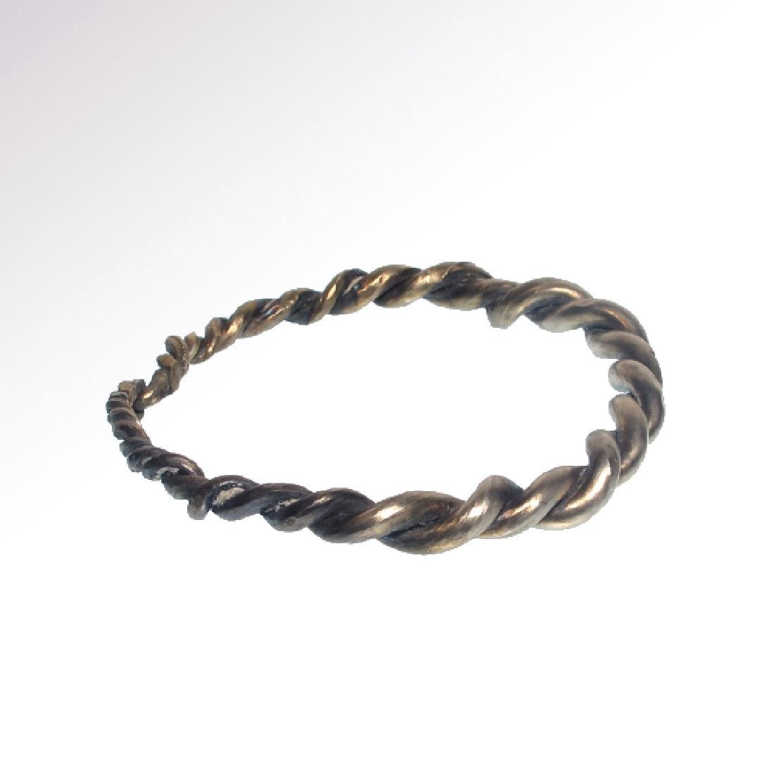 Viking Solid Silver Bracelet, c. 10th-11th Century A.D. - 4