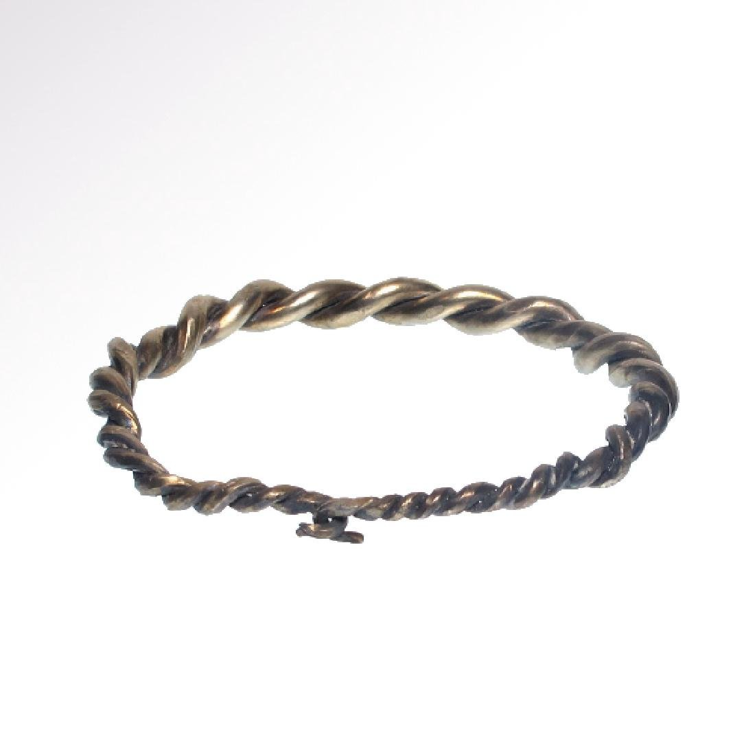 Viking Solid Silver Bracelet, c. 10th-11th Century A.D. - 5